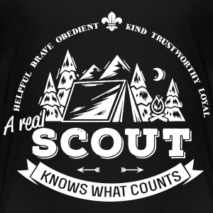 A real scout knows what counts Kids' Shirts - Kids' Premium T-Shirt