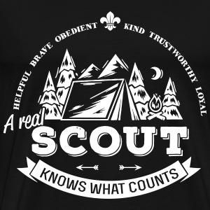 A real scout knows what counts T-Shirts - Men's Premium T-Shirt