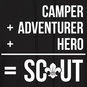 Camper+adventurer+hero = Scout Hoodies - Men's Hoodie