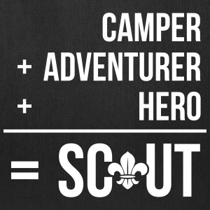 Camper+adventurer+hero = Scout Bags & backpacks - Tote Bag