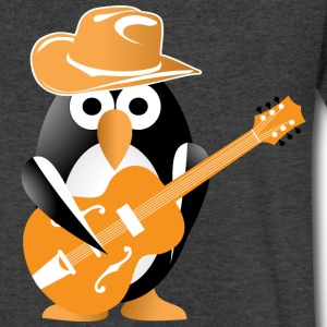 Penguin guitarist T-Shirts - Men's V-Neck T-Shirt by Canvas