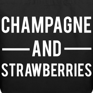 Champagne And Strawberries Bags & backpacks - Eco-Friendly Cotton Tote