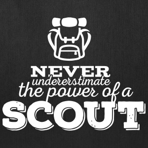 Never underestimate the power of a scout Bags & backpacks - Tote Bag