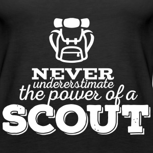 Never underestimate the power of a scout Tanks - Women's Premium Tank Top