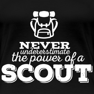 Never underestimate the power of a scout Women's T-Shirts - Women's Premium T-Shirt