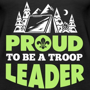 Proud to be a troop leader Tanks - Women's Premium Tank Top
