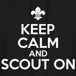 Keep calm and scout on Hoodies - Men's Hoodie