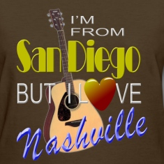 Love Nashville from San Diego Women's T-Shirts