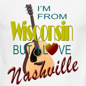 Love Nashville from Wisconsin Men's T-Shirts - Men's Ringer T-Shirt