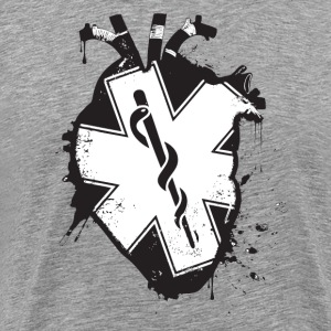 star of life anatomical heart - Men's Premium T-Shirt