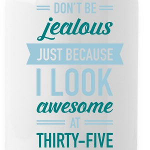 Awesome At Thirty-Five Sportswear - Water Bottle