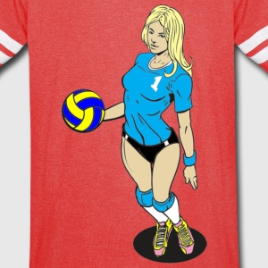 VOLLEY GIRL - Vintage Sport T-Shirt
