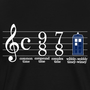 music doctor who in phone box - Men's Premium T-Shirt