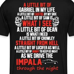impala and gun Devil Automobile - Men's Premium T-Shirt
