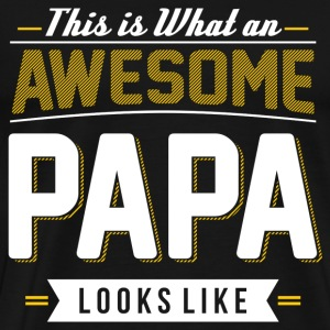 AWESOME PAPA grandfather, grandfather to be - Men's Premium T-Shirt