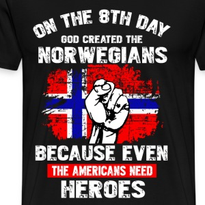 GOD CREATED THE NORWEGIAN - Men's Premium T-Shirt