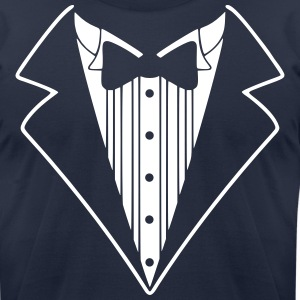 Tuxedo Jacket Costume  T-Shirts - Men's T-Shirt by American Apparel