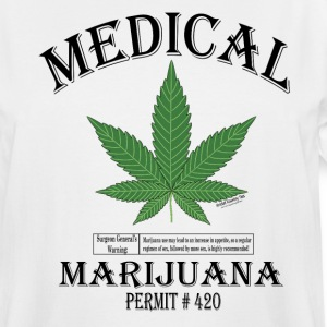 MEDICAL MARIJUANA PERMIT #420. T-Shirts - Men's Tall T-Shirt