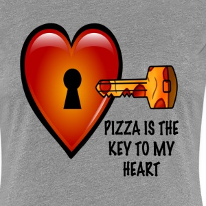 Pizza is The Key Women's Tee - Women's Premium T-Shirt