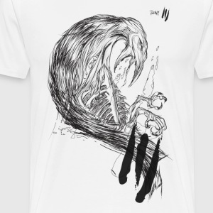 Crow Illustration  - Men's Premium T-Shirt