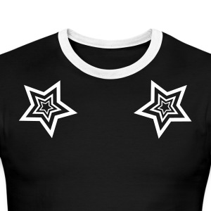 StarMaster Black with LC trident by CyberSpaceVIP - Men's Ringer T-Shirt