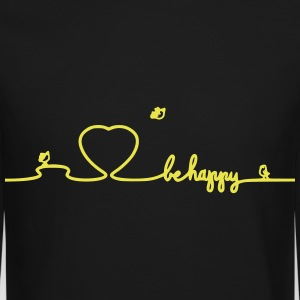 Be Happy Love Long Sleeve Shirts - Crewneck Sweatshirt