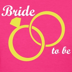 Bride Groom Wedding Rings Women's T-Shirts
