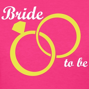 Bride Groom Wedding Rings Women's T-Shirts - Women's T-Shirt