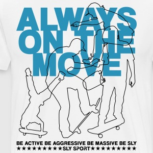 ALWAYS ON THE MOVE: SKATEBOARDERS GRAPHIC TEE - Men's Premium T-Shirt