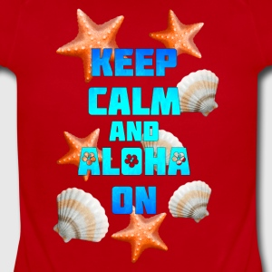 Keep Calm Aloha On - Short Sleeve Baby Bodysuit
