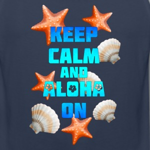 Keep Calm Aloha On - Men's Premium Tank