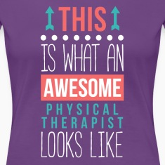 Awesome Physical Therapist Professions T Shirt Women's T-Shirts