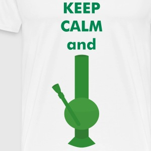 KEEP CALM and BONG - Men's Premium T-Shirt