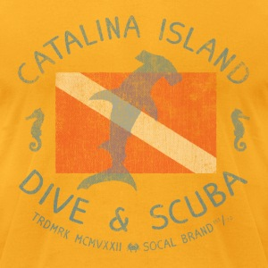 Catalina Island Dive and Scuba T-shirt - Men's T-Shirt by American Apparel