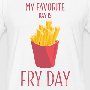 Funny T Shirts Fry Day With French Fries - Fitted Cotton/Poly T-Shirt by Next Level