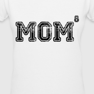 Mom of 8 Women's T-Shirts - Women's V-Neck T-Shirt