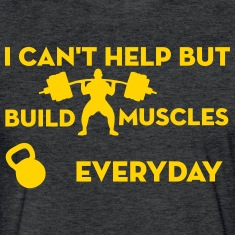 Build Muscles Everyday Vintage sport t-shirt