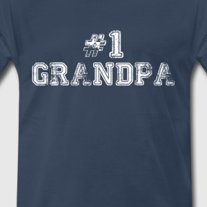 Number One Grandpa T-Shirts - Men's Premium T-Shirt