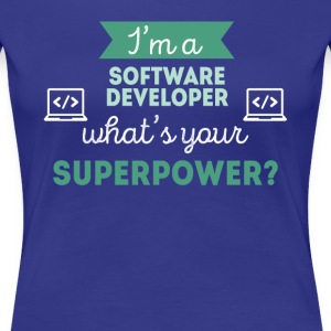 Software Developer Superpower Professions T Shirt Women's T-Shirts - Women's Premium T-Shirt
