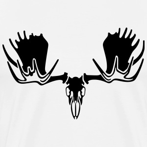 moose skull - Men's Premium T-Shirt