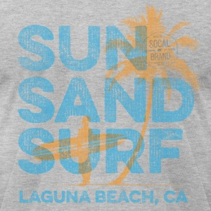 Sun, Sand, Surf - Laguna Beach T-shirt - Men's T-Shirt by American Apparel