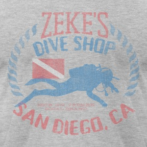 Zeke's Dive Shop, San Diego T-shirt - Men's T-Shirt by American Apparel