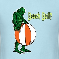 Creature and beach ball