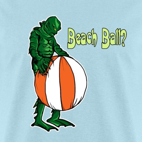 Creature and beach ball