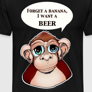 Drinking Ape  - Men's Premium T-Shirt