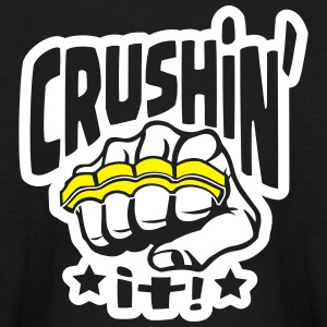 Crushin' it, or Crushing it! Brass Knuckles Style Kids' Shirts - Kids' Long Sleeve T-Shirt