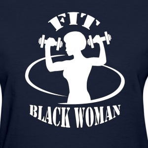 Fit Black Woman Curve Women's T-Shirts - Women's T-Shirt