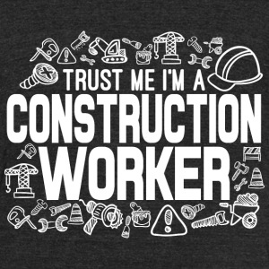 Construction Worker T-Shirts - Unisex Tri-Blend T-Shirt by American Apparel