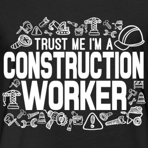 Construction Worker T-Shirts - Fitted Cotton/Poly T-Shirt by Next Level