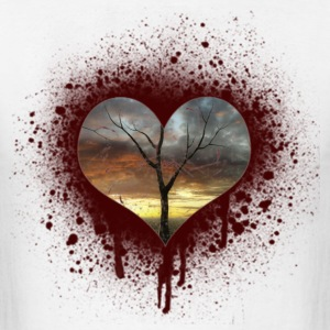 bleeding heart T-Shirts - Men's T-Shirt